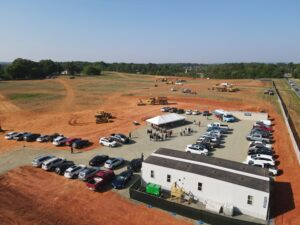 ABSS New HS Groundbreaking- Aerial